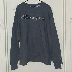 Champion Crewneck Sweatshirt Gray Heather Men's XL